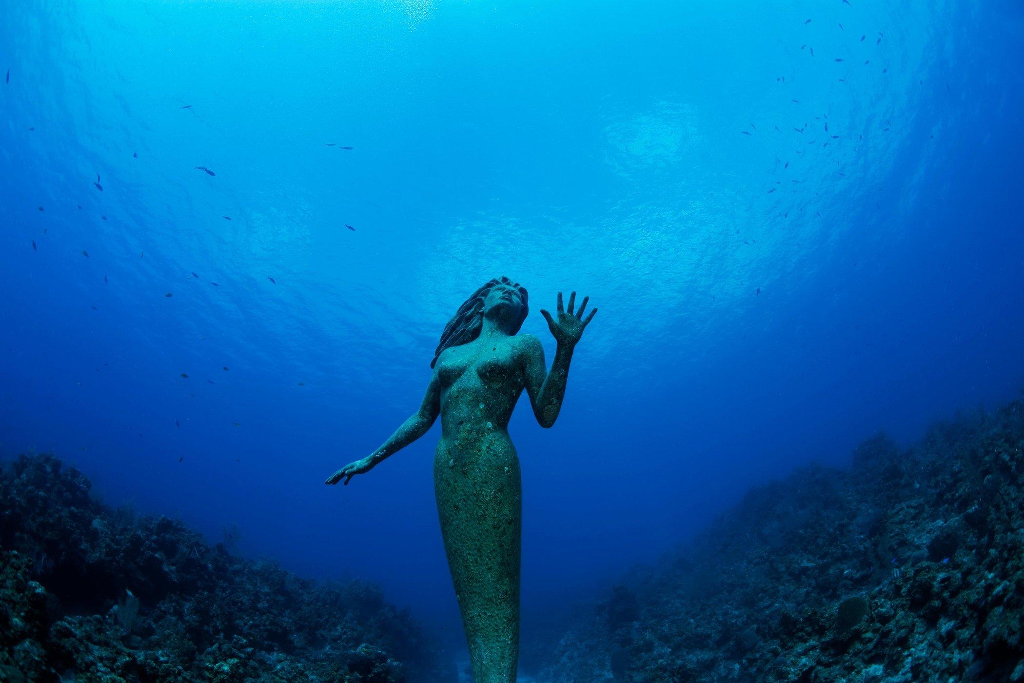 islatortugadiver.com koh tao10-estatuas-bajo-el-agua-mar-sirena-mexico